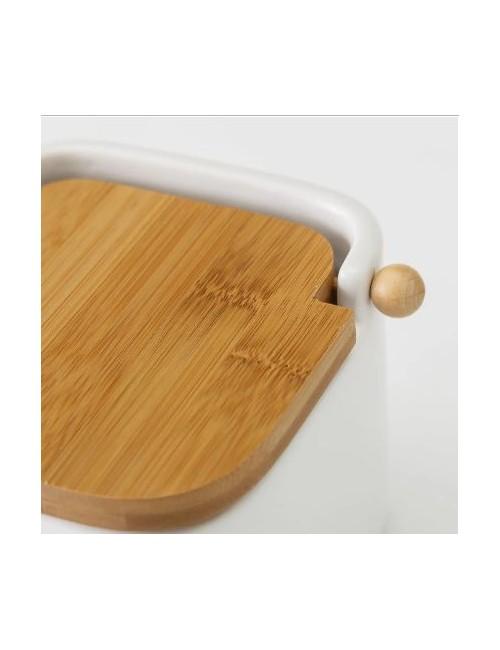 Centro cerámica peq curvas cromo